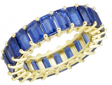 Load image into Gallery viewer, RAYMOND MAZZA ROYAL BLUE KYANITE EMERALD CUT ETERNITY BAND
