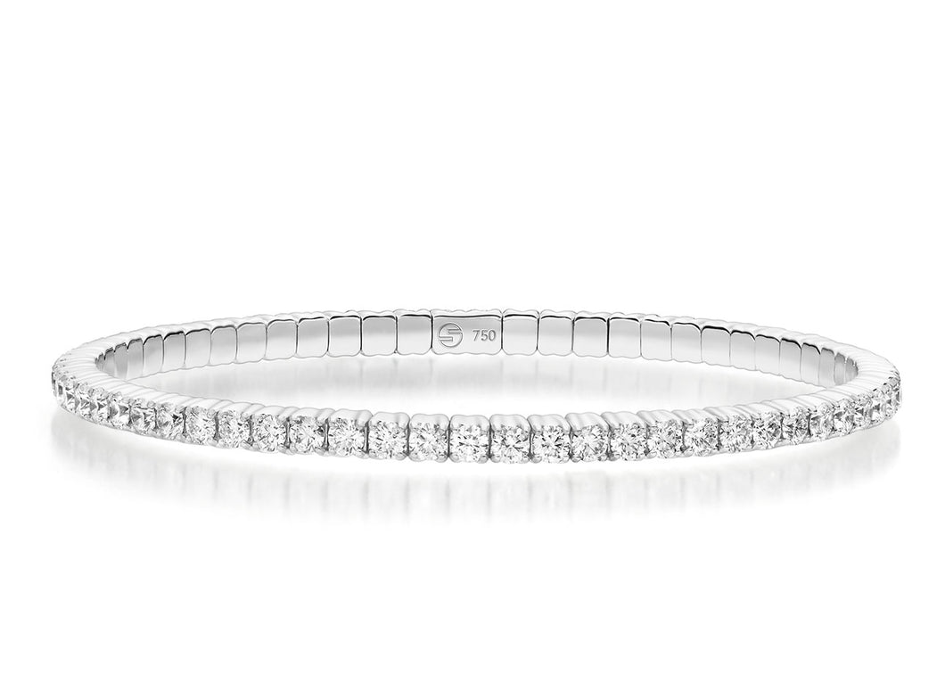 White Gold Flexible Diamond Set Bracelet