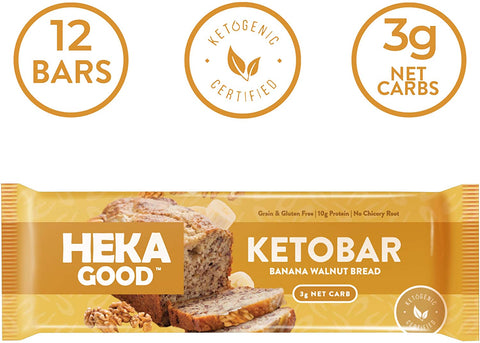 heka good foods banana walnut bar keto ketogenic ketosis low carb high fat LCHF snack