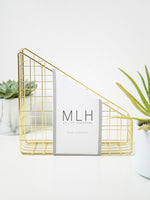 My Life Handmade - Gold Luxury Storage Desk Organiser