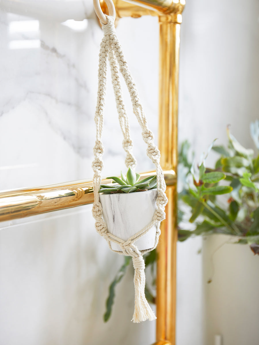 Mini Macramé Plant Hanger Craft Kit