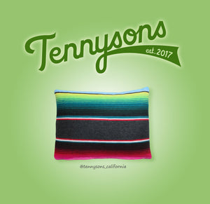 Two-Color Serape Pillow - Cover + Pillow