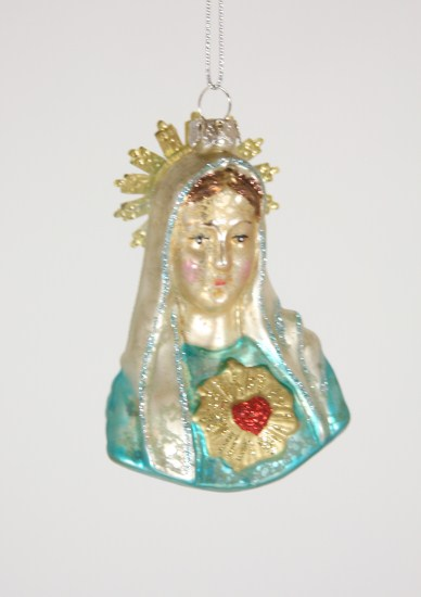 Cody Foster & Co Virgin Mary Bust Christmas Ornament