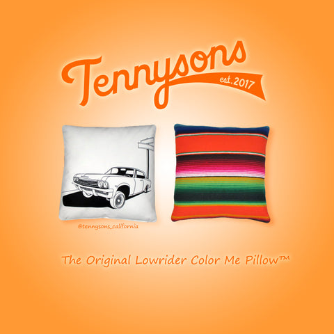 "The Original Lowrider Color Me Pillow™ - Cover + Pillow -  ""Six Five"" 65 Impala"