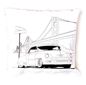 "The Original Lowrider Color Me Pillow™ - Cover + Pillow -  ""Fifty One"" 51 Chevy Deluxe"