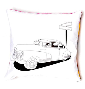 "The Original Lowrider Color Me Pillow™ - Cover + Pillow -  ""Bombita"" 46 Fleetline"