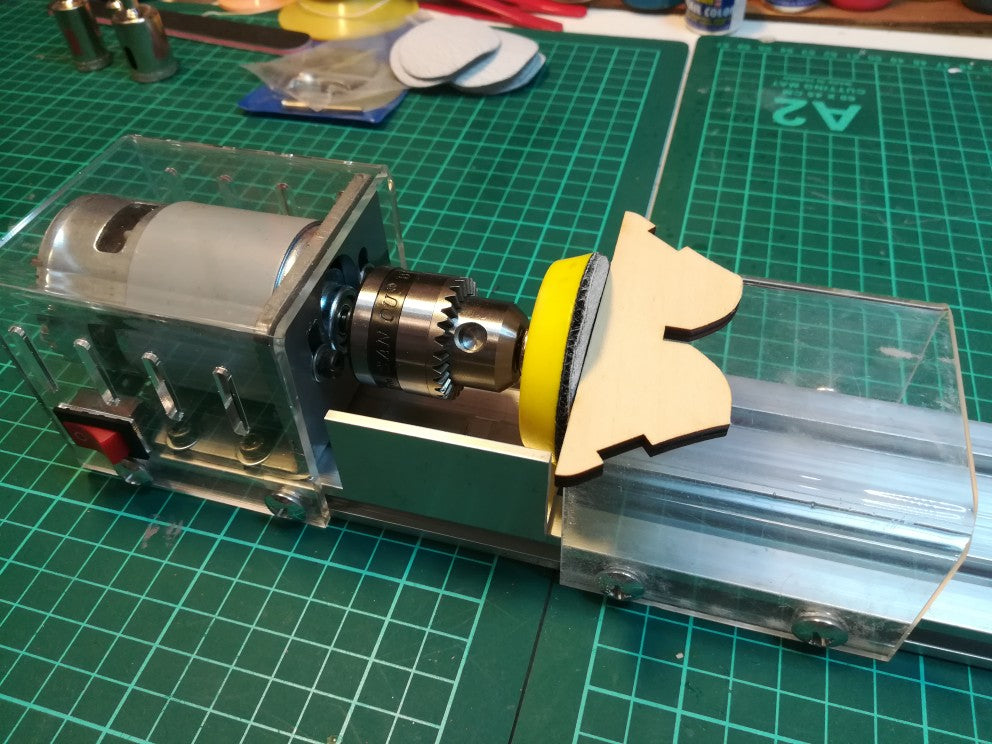 DIY Portable Woodworking Mini Lathe Drill
