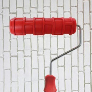 Genius Wall Brick Pattern Rubber Paint Roller for Wall Decoration