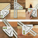 10 in 1 Woodworking Triangle Ruler