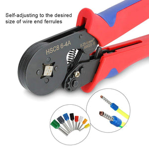 Premium Ferrule Crimping Tool Self-Adjustable Ratchet Wire