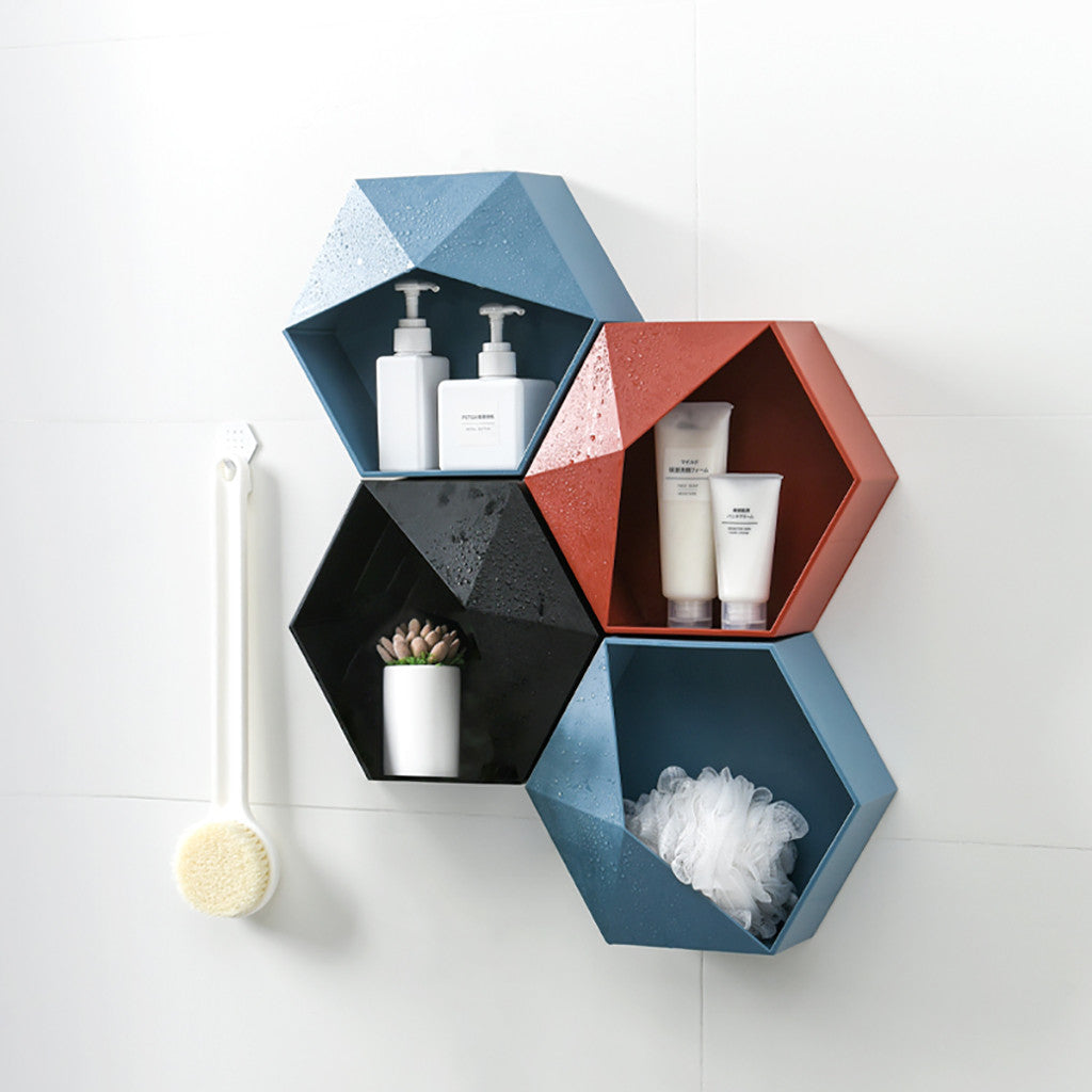 Geometric Shaped Wall Mount Storage Rack