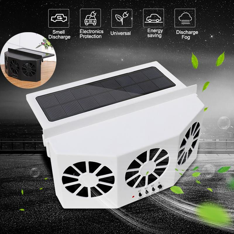 Vehicle 3 Cooler Fan Solar Energy Exhaust Fan