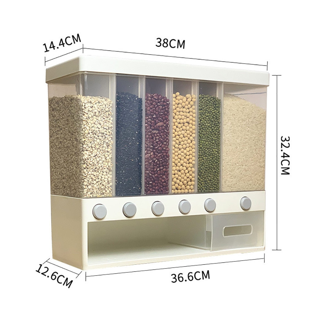 Wall-Mounted Dry Food Dispenser