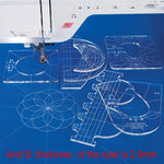 Premium Free Motion Quilting Template