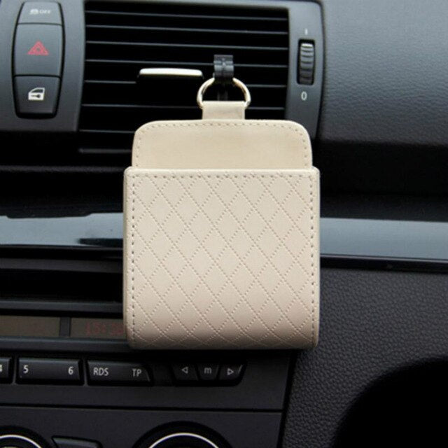 Car Vent Leather Pocket