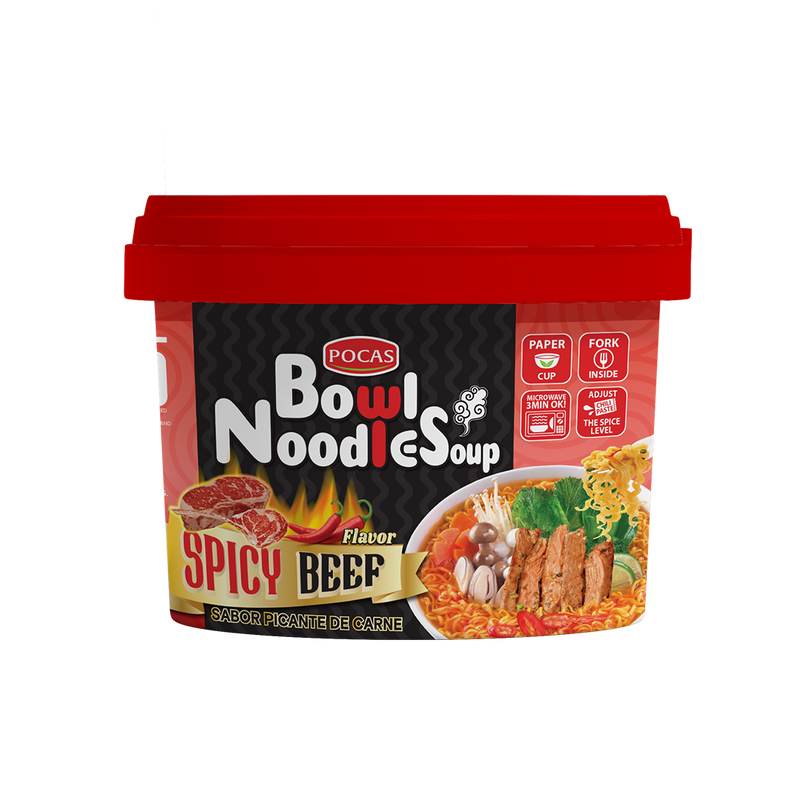 Pocas Bowl Noodle Soup (Pack of 8)