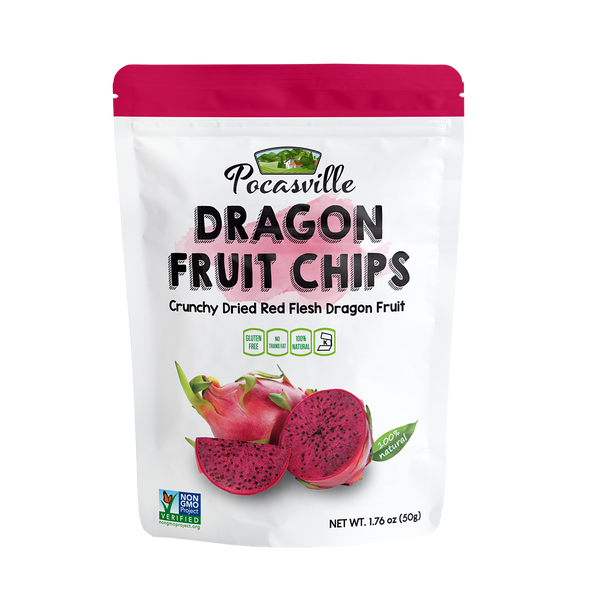 Pocasville Premium Dragon Fruit Chips, 1.76 Ounce (Pack of 6)