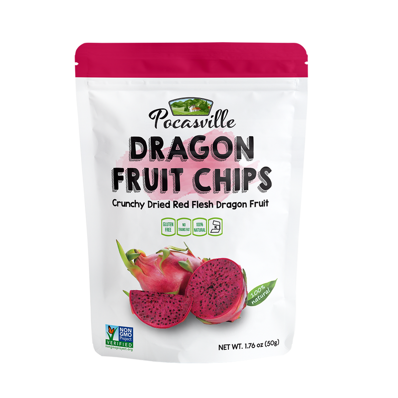 Pocas Premium Dragon Fruit Chips, 1.76 Ounce (Pack of 6) - Short Date