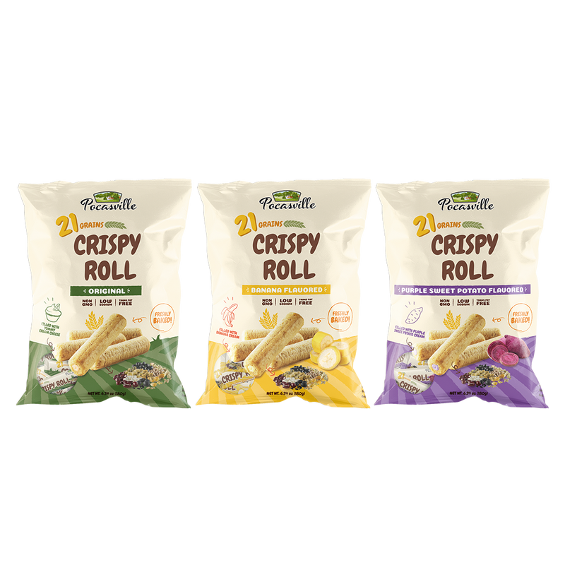 Pocasville 21 Grains Crispy Rolls (Pack of 2)