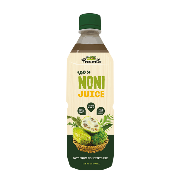 Pocasville 100% Noni Juice, 16.9 Fluid Ounce (Pack of 4)