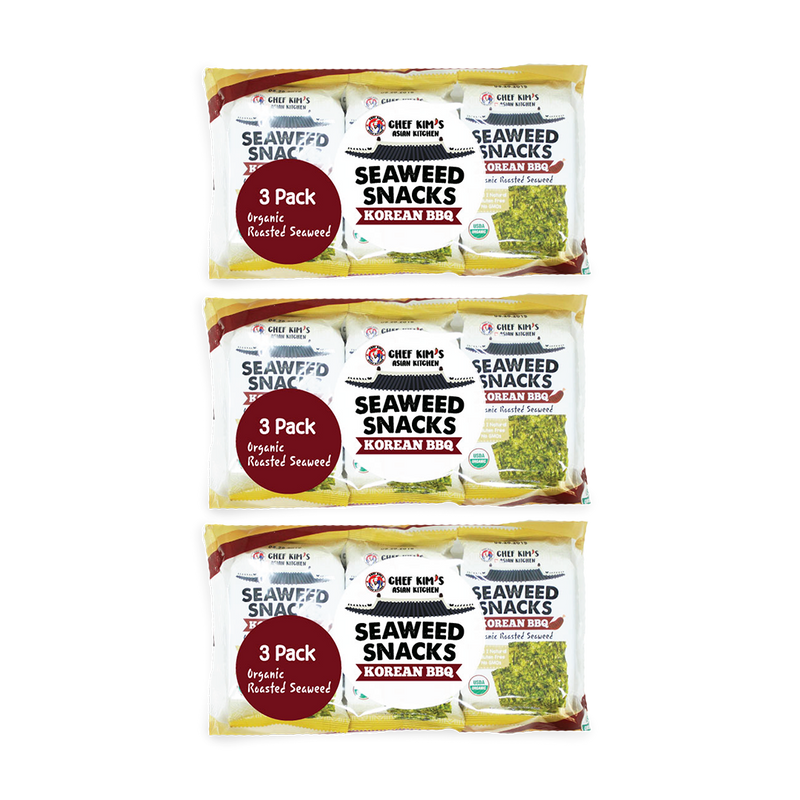 Chef Kim's Asian Kitchen Seaweed Snacks 5 Grams (Pack of 9)