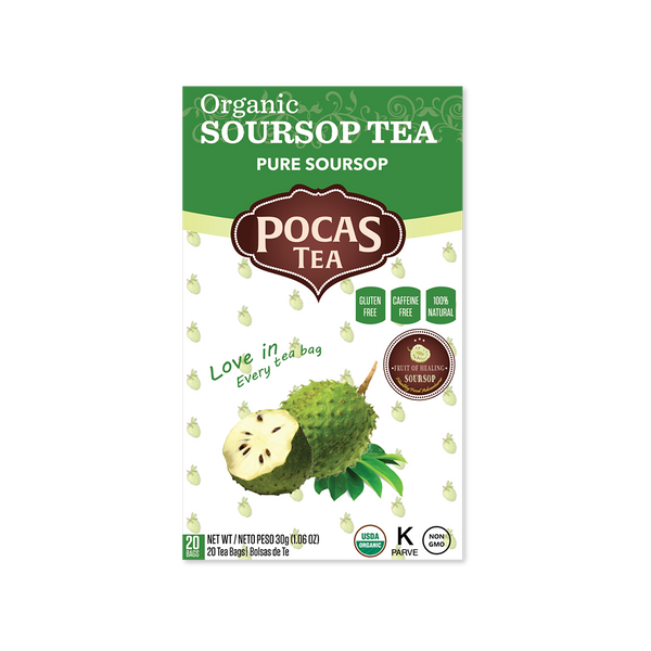 Pocas Organic Soursop Tea with 20 Bags (Pack of 6)