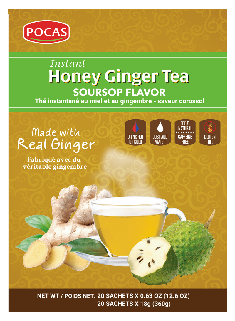 Pocas Honey Ginger Tea with 20 Bags (Pack of 2)