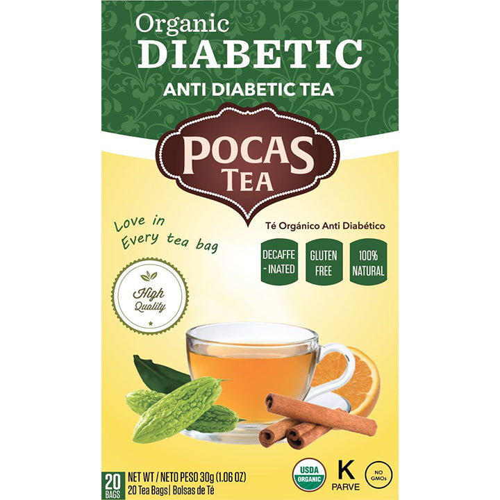 Pocas Organic Functional Tea with 20 Bags (Pack of 6)