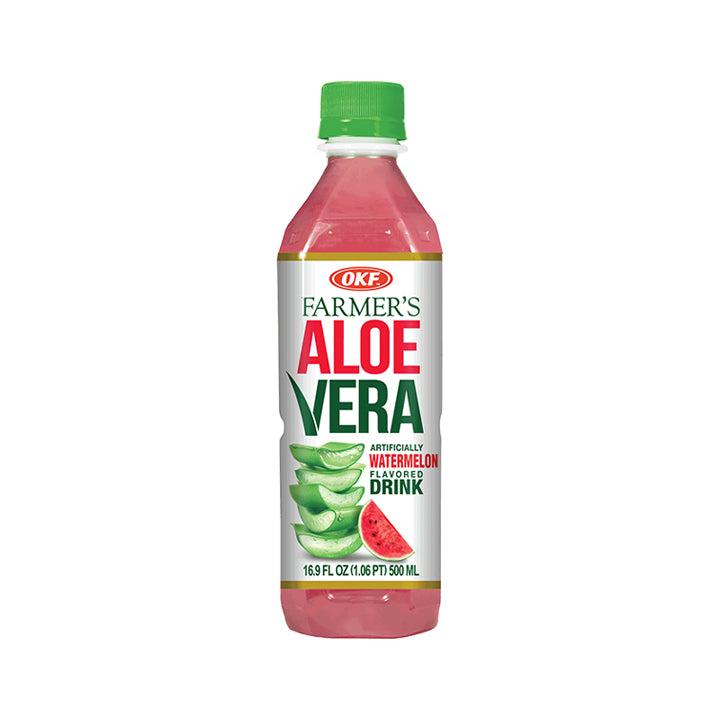 OKF Farmers Aloe Drink 16.9 Fluid Ounce (Pack of 20)