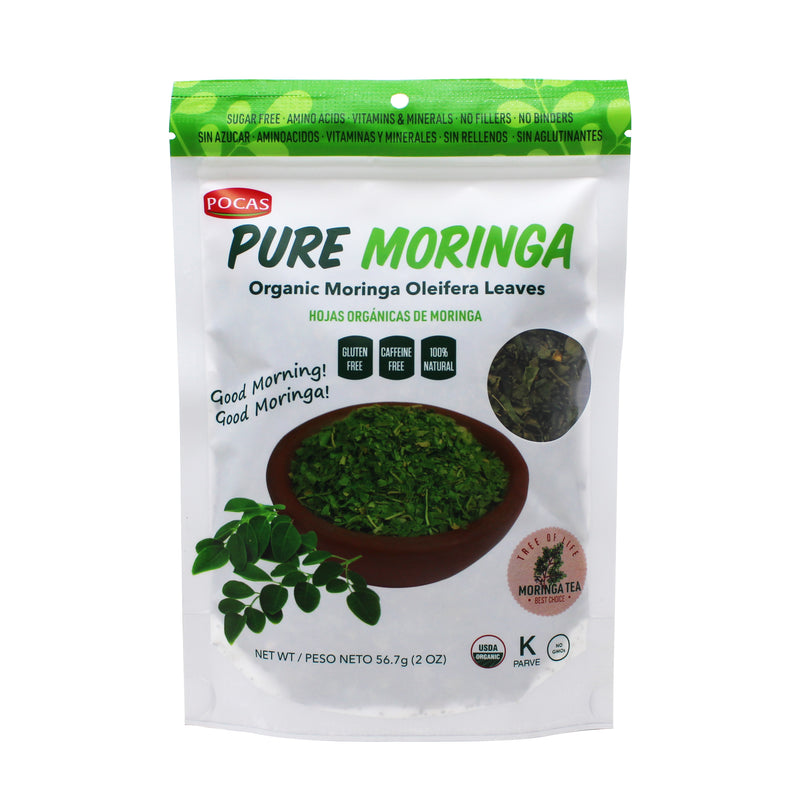 Pocas Organic Moringa Leaves, 2 Ounce (Pack of 2)