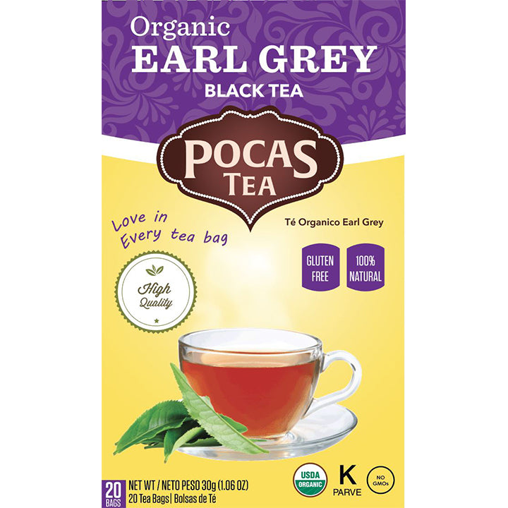 Pocas Organic Traditional Tea with 20 Bags (Pack of 6)