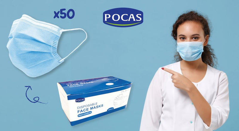 Disposable Masks (Pack of 50)