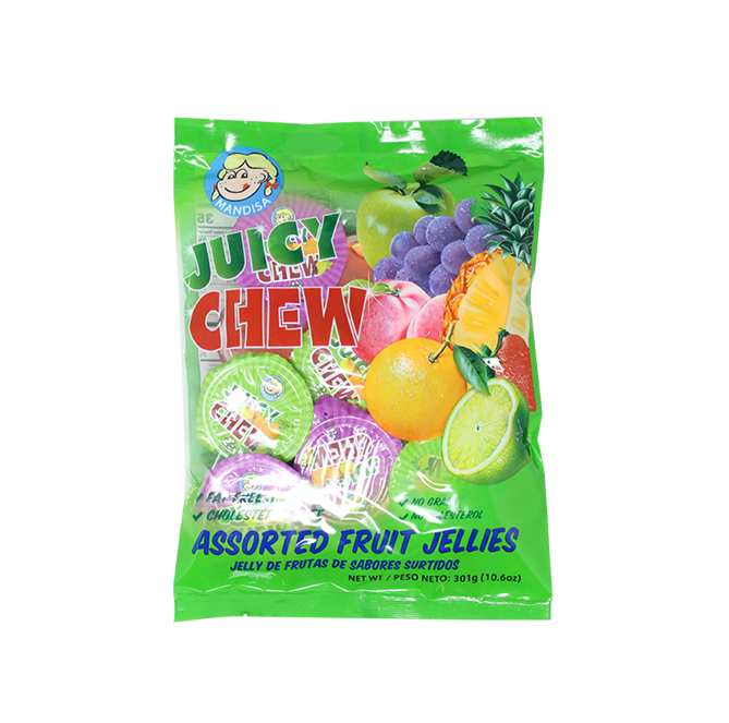 Assorted Juicy Jelly, Fruit Jelly Bag 10.6 Ounce (Pack of 6)