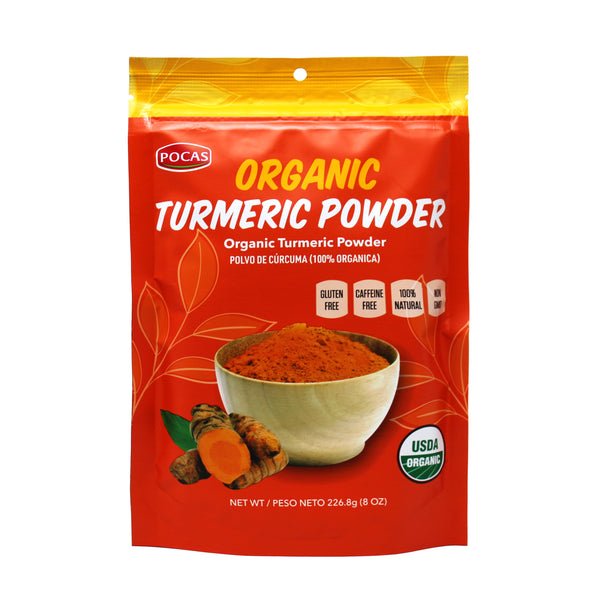 Pocas Organic Turmeric Powder, 8 Ounce (Pack of 2)
