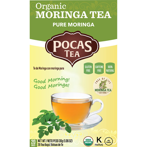 Pocas Organic Moringa Tea with 20 Bags (Pack of 6)