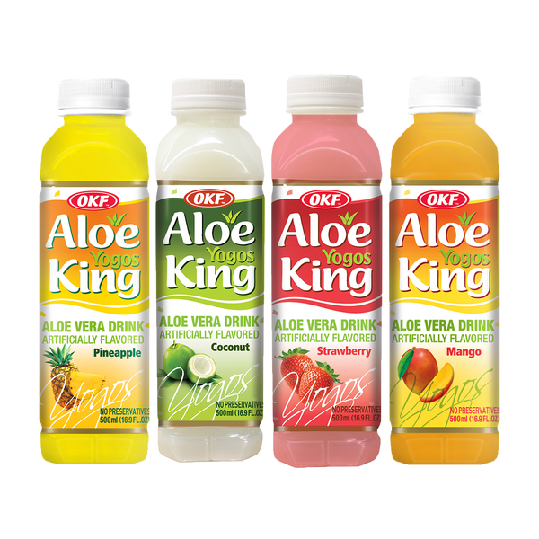 OKF Aloe Yogos King 16.9 Fluid Ounce (Pack of 12)