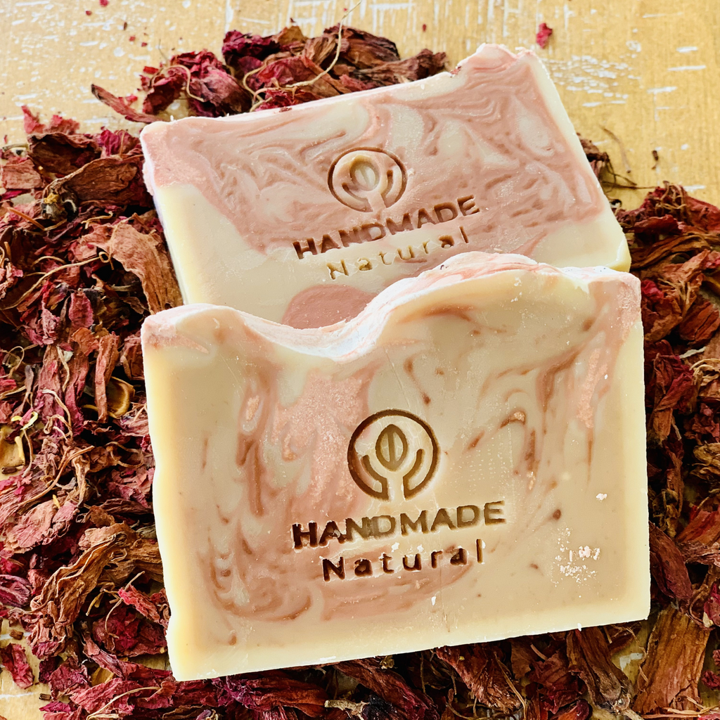 Hibiscus Soap - Hand Made Moisturising Bar Soap