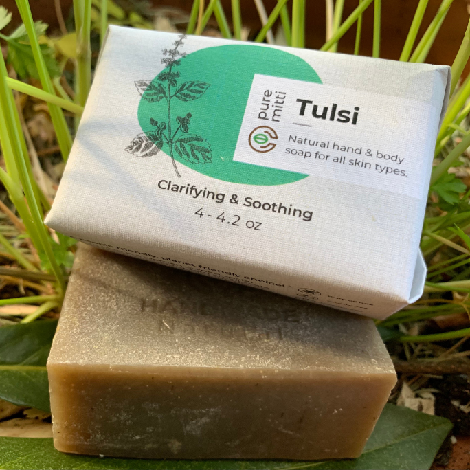 Tulsi Soap - Holi Basil Soap All Natural Handmade Soap