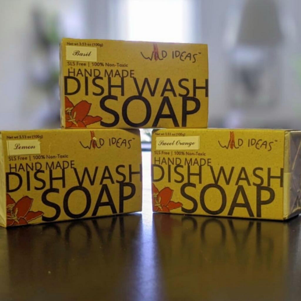 Natural Handmade Dish Wash Bar Soap | Solid Dish Soap | Zero Waste Dish Washing Block Soap