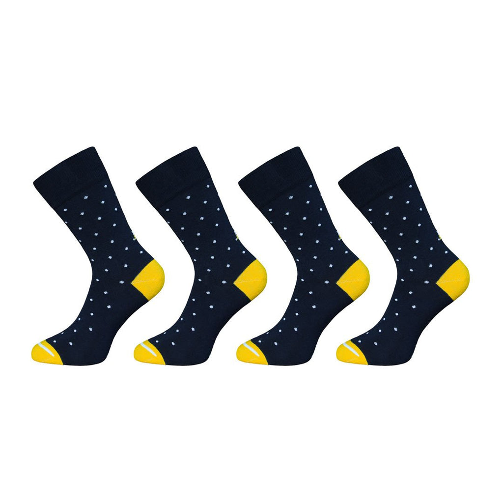 Navy Polka Dot Socks - 2 Pack