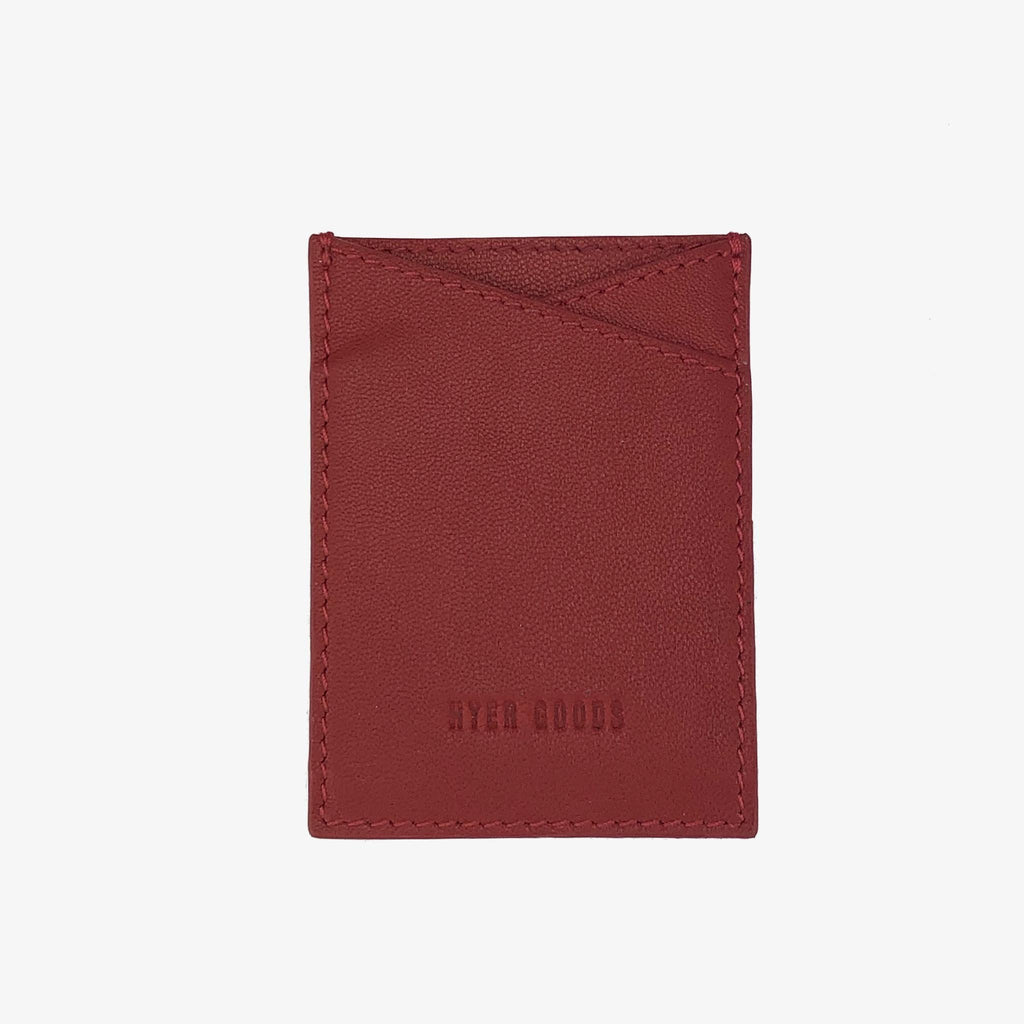 Leather Sticker Phone Wallet Classic Red