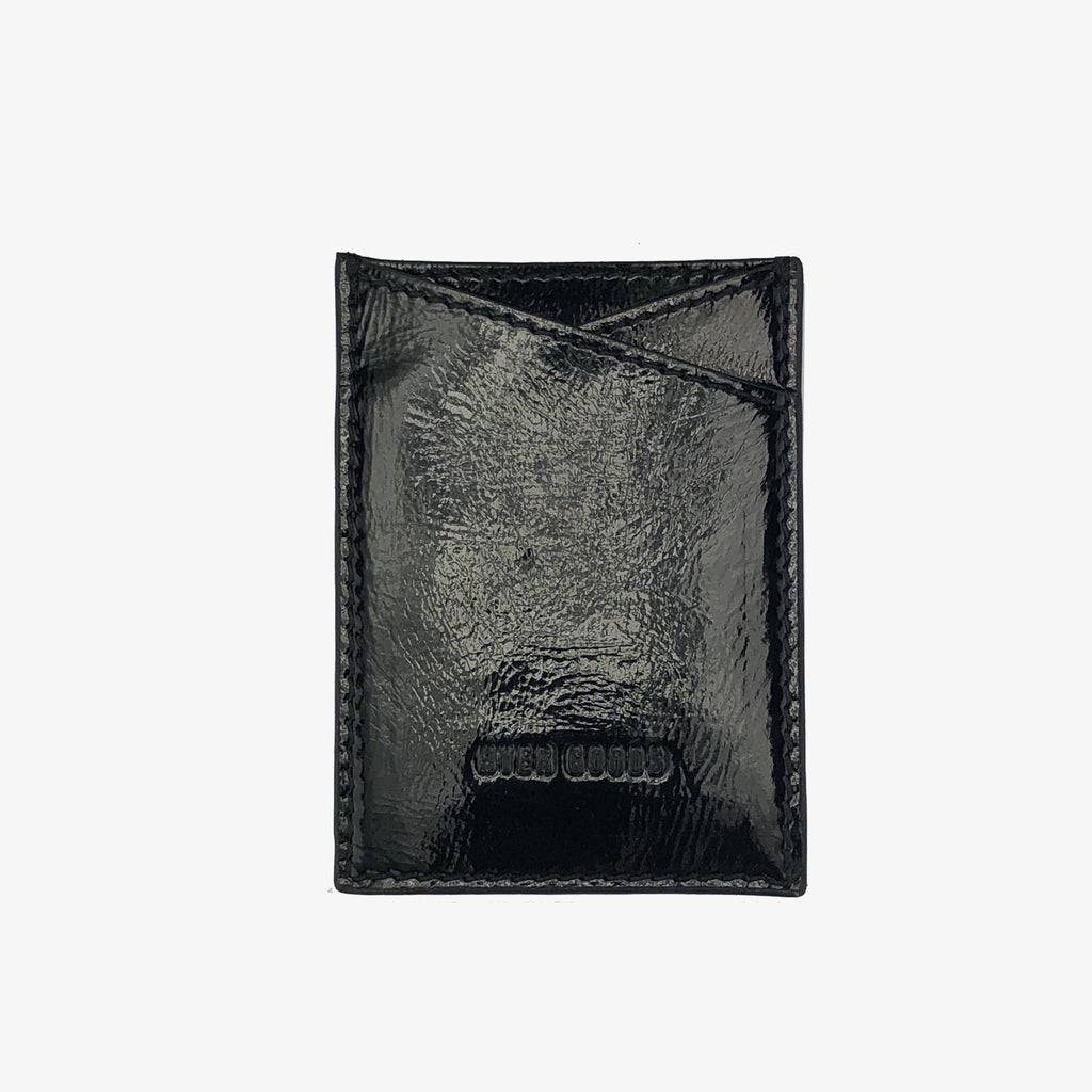 Leather Sticker Phone Wallet Black Patent