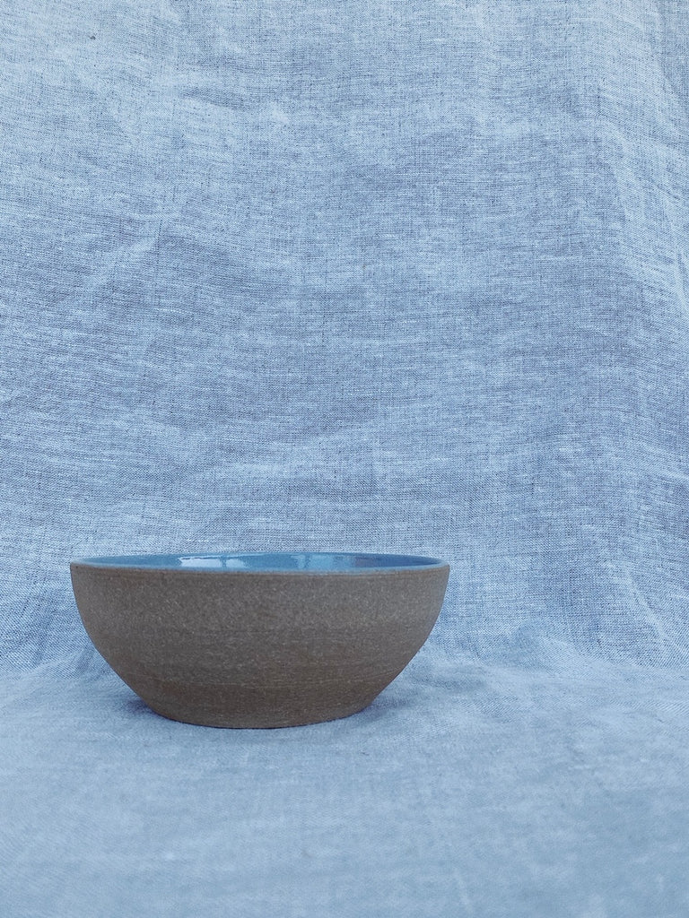 No Knob Foggy Blue Bowl