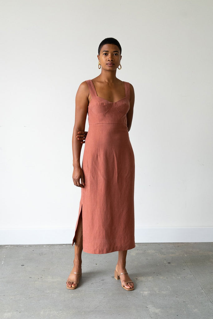 Bralette Dress in Cinnamon