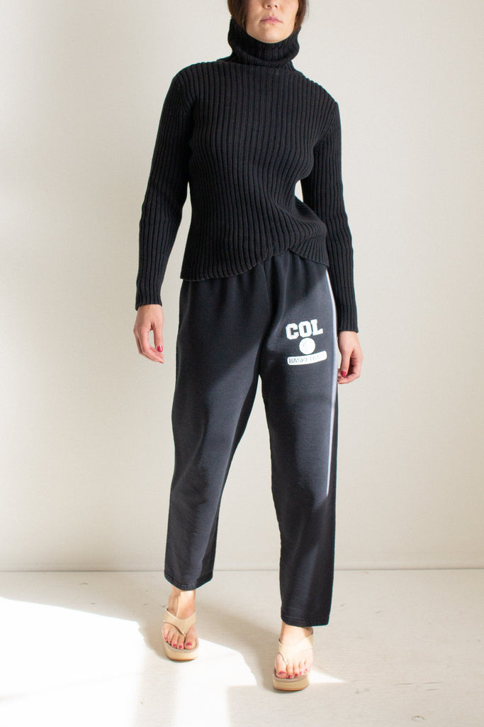 Vintage black basketball sweatpants // XL