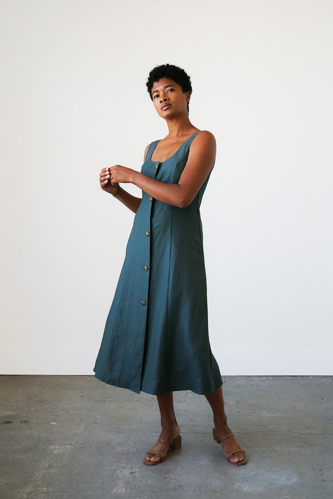 Terrazza Dress in Spruce