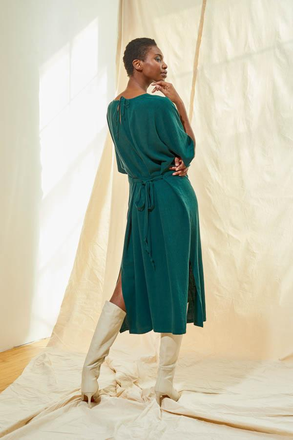 Tie Back Dress - Pine