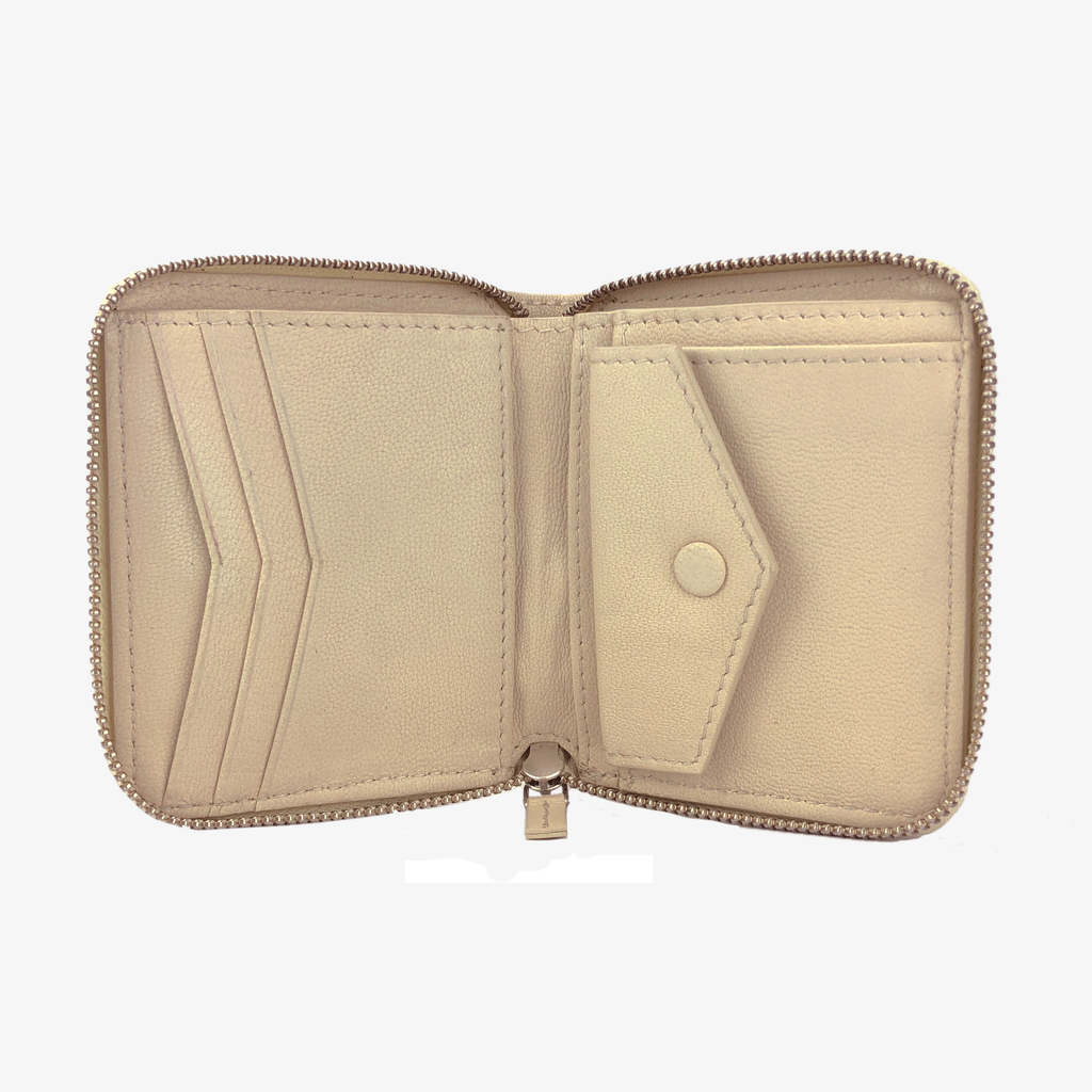Zip Wallet Bone