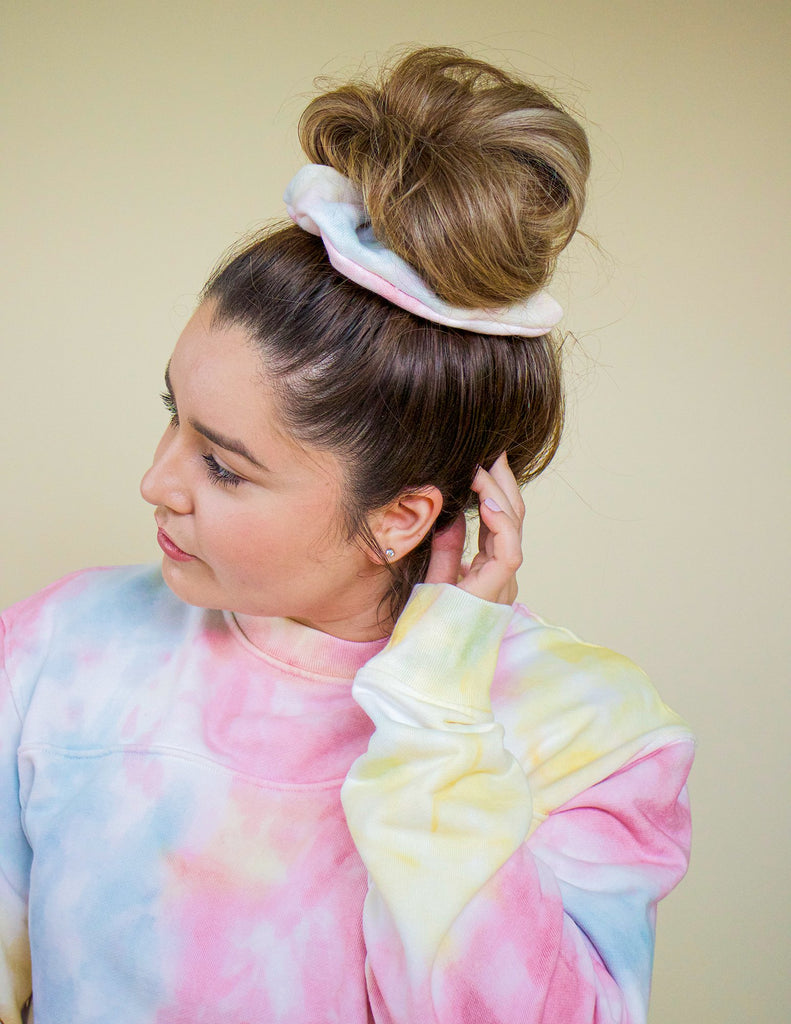 Playa Tie Dye Upcycled Scrunchie
