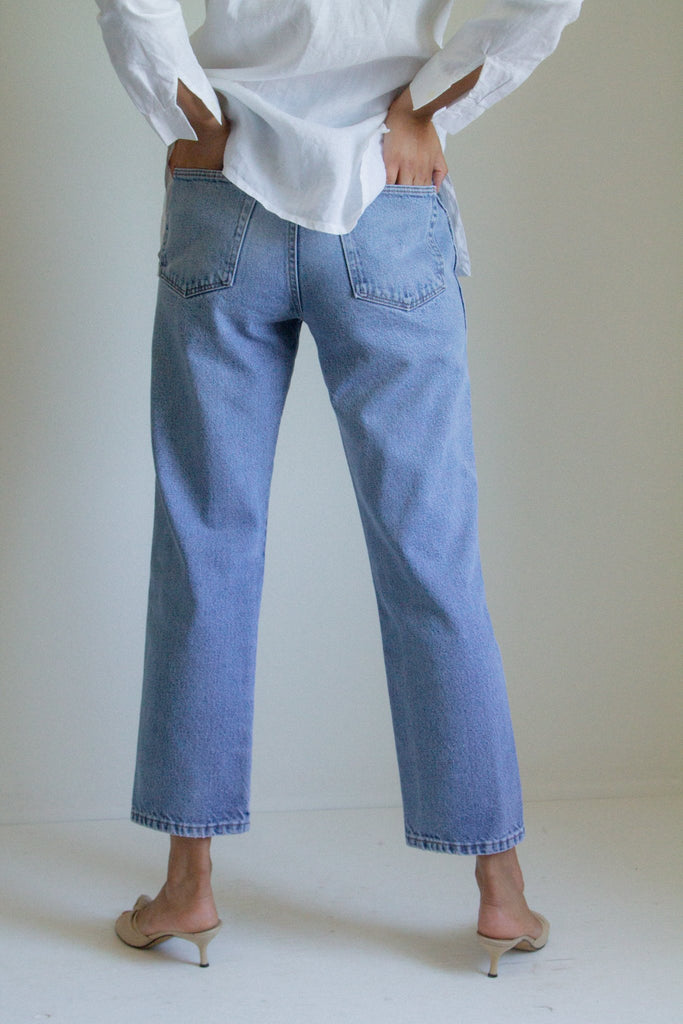"Vintage faded blue jeans // 32"" waist"